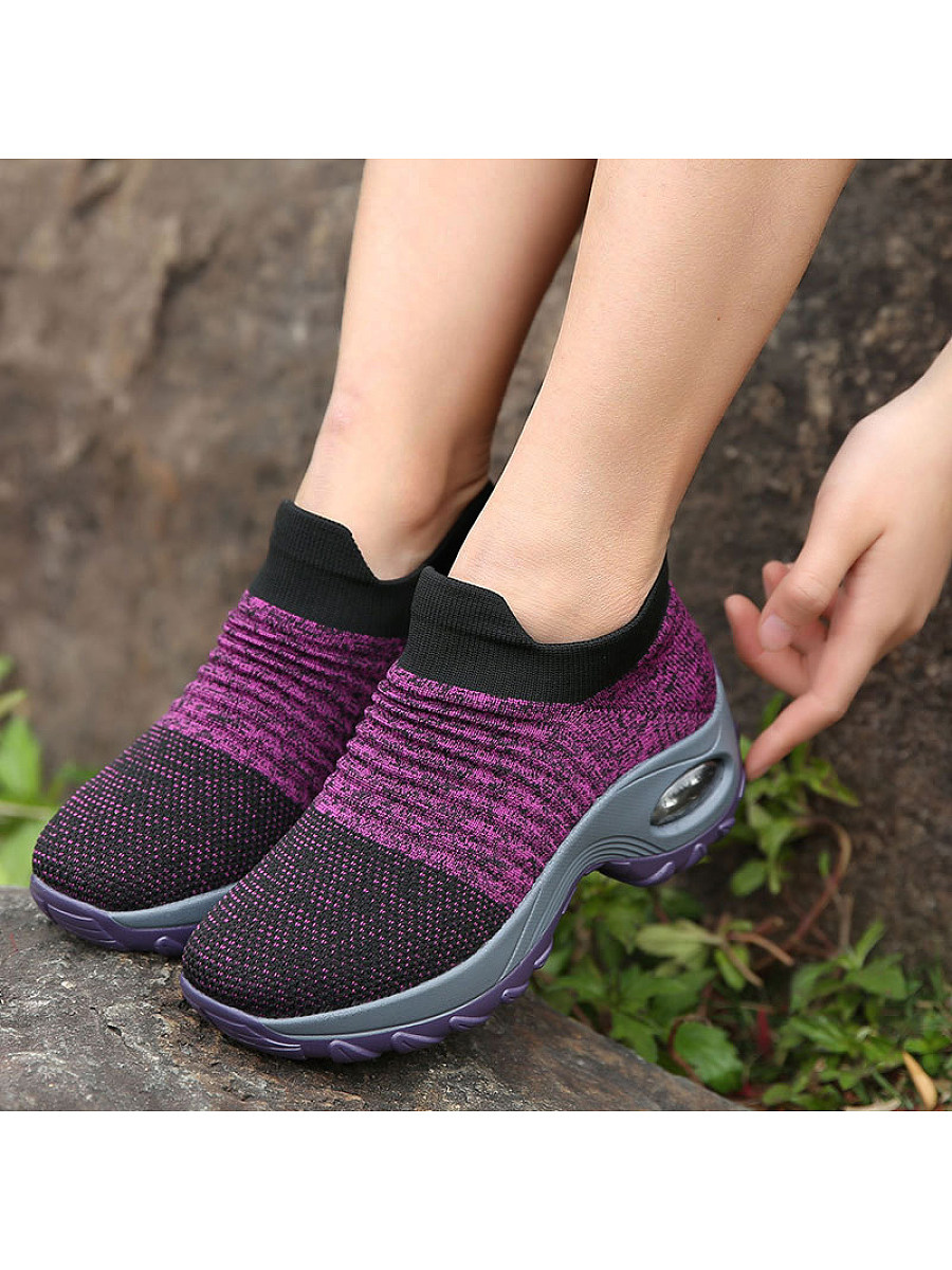 Women's heightened air cushion mom casual shoes
