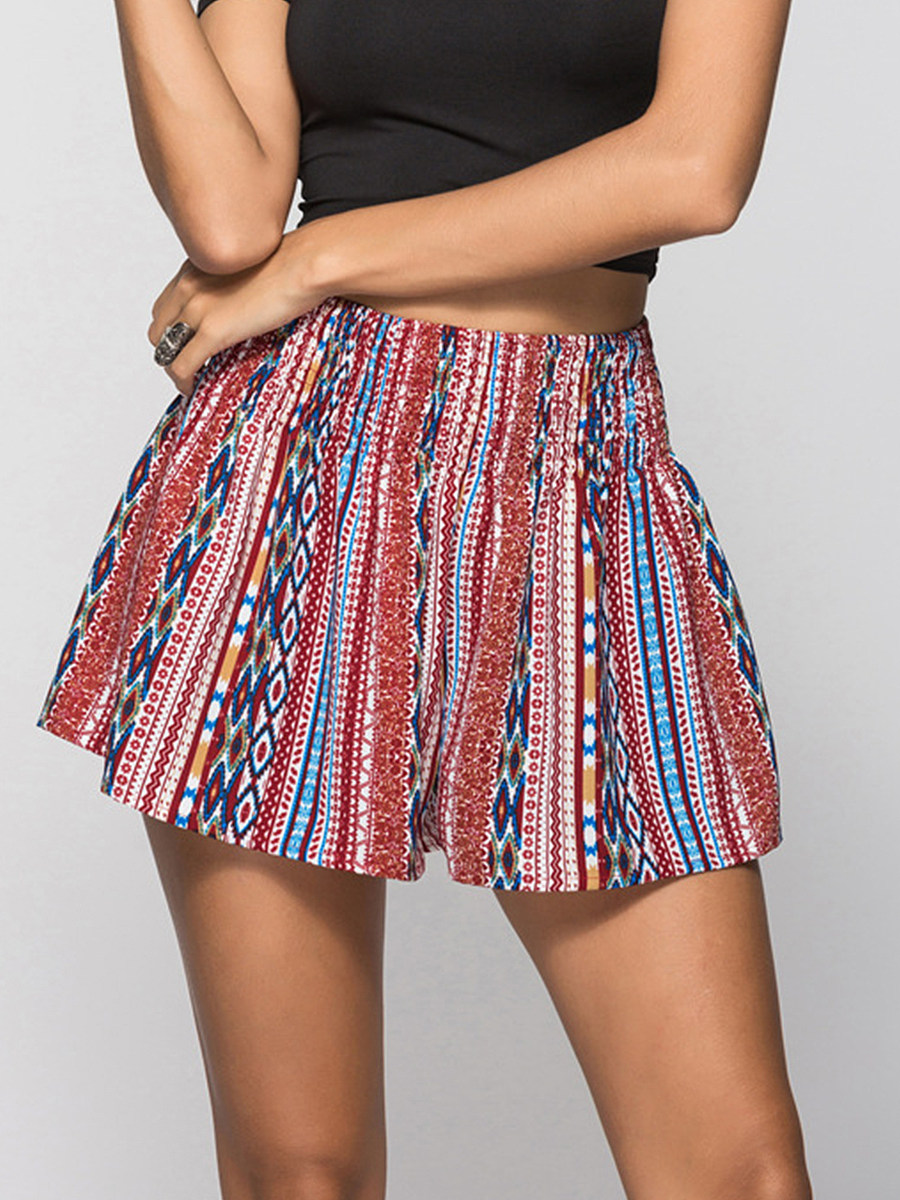 BerryLook Summer high waist sexy loose contrast color shorts