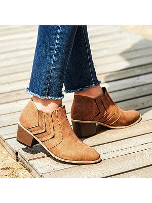 berrylook Women's Fashion Low Heel Ankle Boots