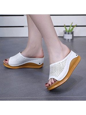 Women's Casual Hollow Wedge Sandals, 10963050