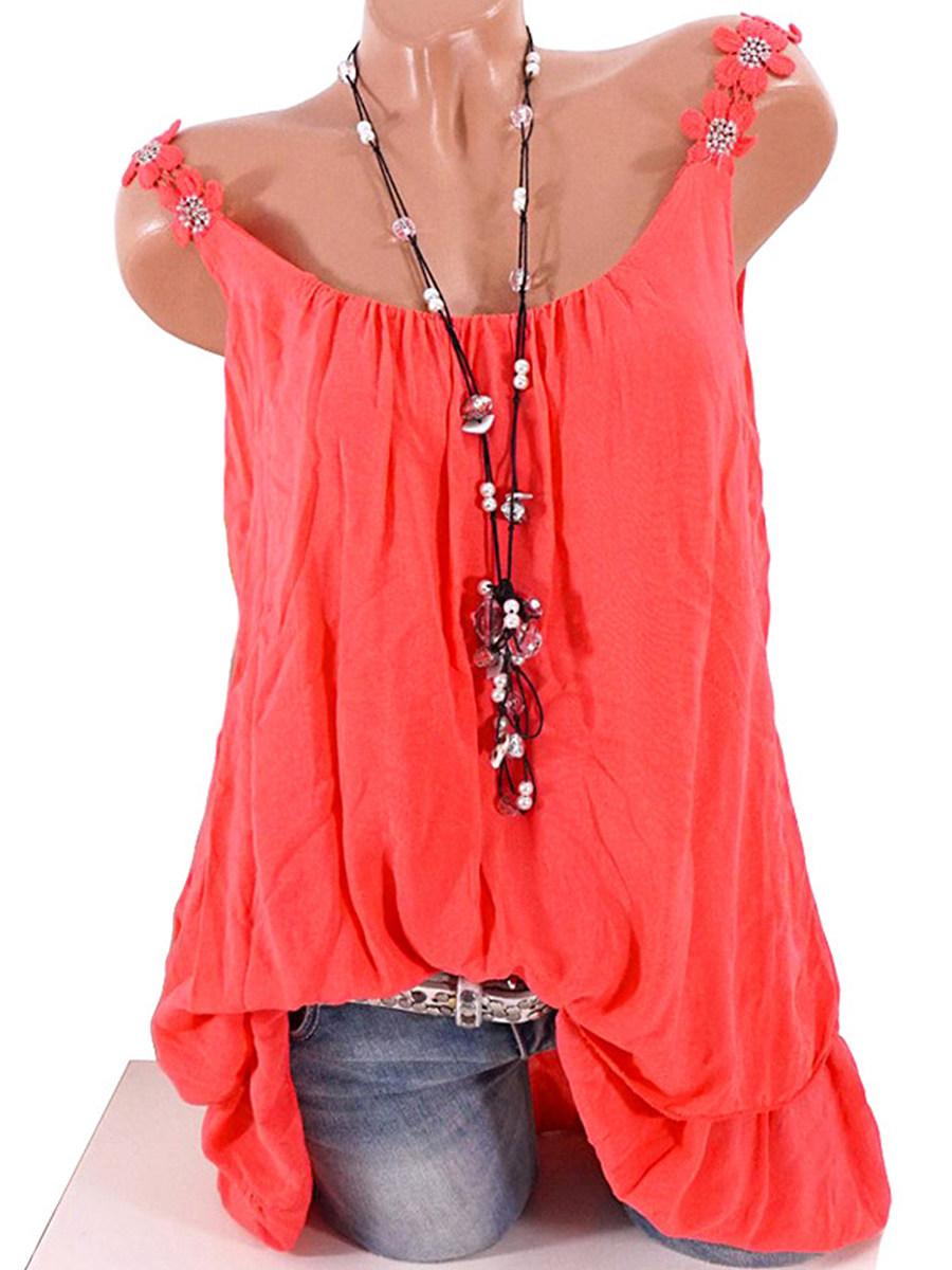 BerryLook Plain Two-piece Sleeveless T-shirt