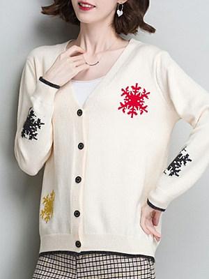 Elegant Long Sleeve Knit Cardigan, 10093767