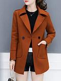 Image of Autumn And Winter Woolen Coat Women Mid-length