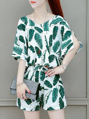 Summer Fashion Floral Two-piece Suit