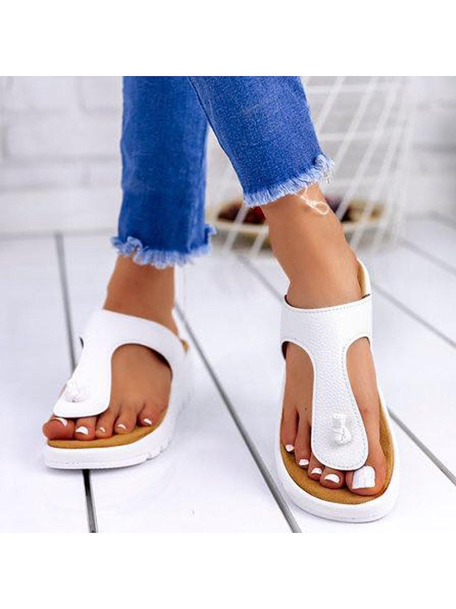 Women's wedge flip flops