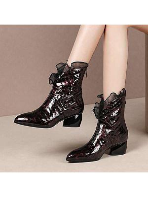 BERRYLOOK Women's Fashion Low Heel Boots