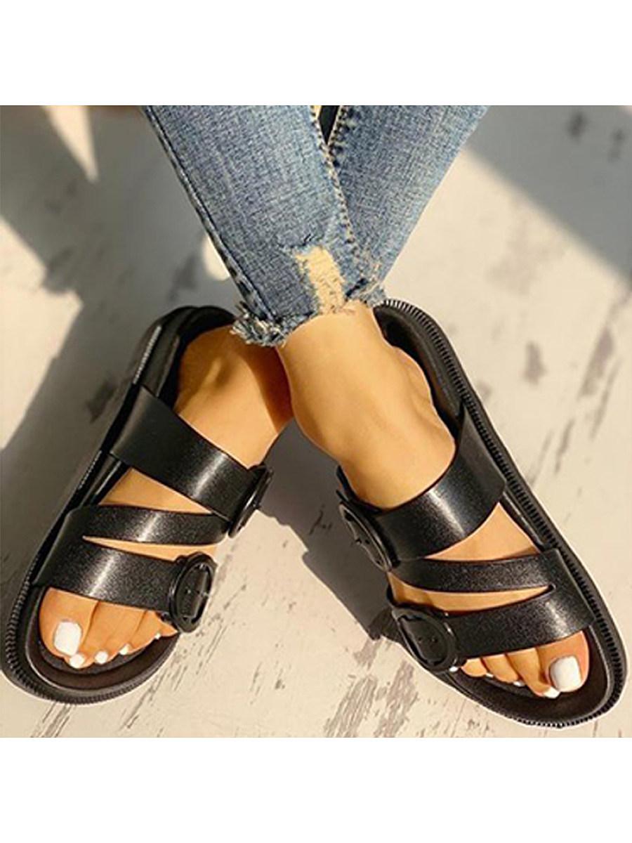 BerryLook Women's cross strap sandals