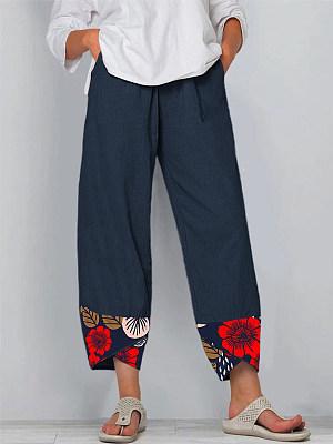 Fashion printed loose slacks фото