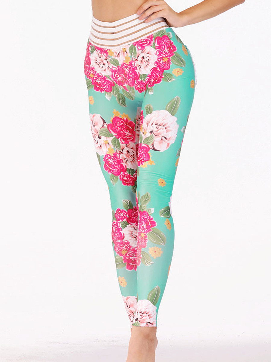 Fashion high waist printed leggings yoga pants