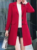 Solid color temperament slim coat