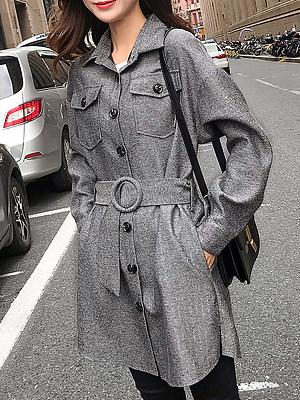 Medium and long waist trench coat