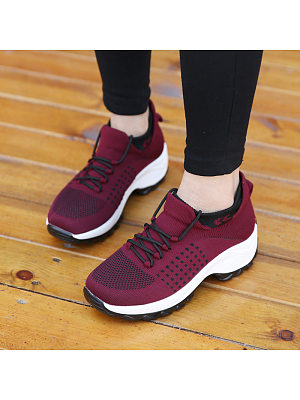 Round Toe Casual Travel Sneakers, 11171331