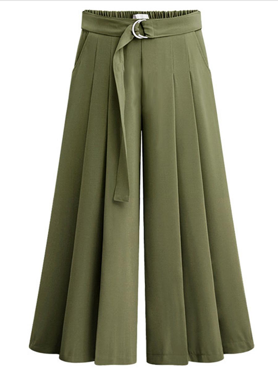 BerryLook Fashionable wide-band wide-leg pants casual pants