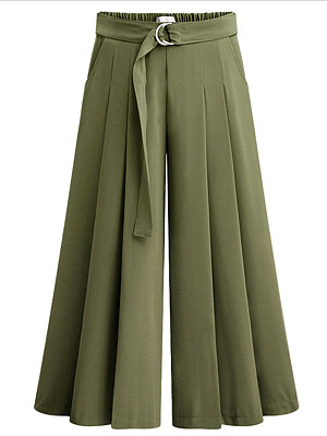 Fashionable wide-band wide-leg pants casual pants