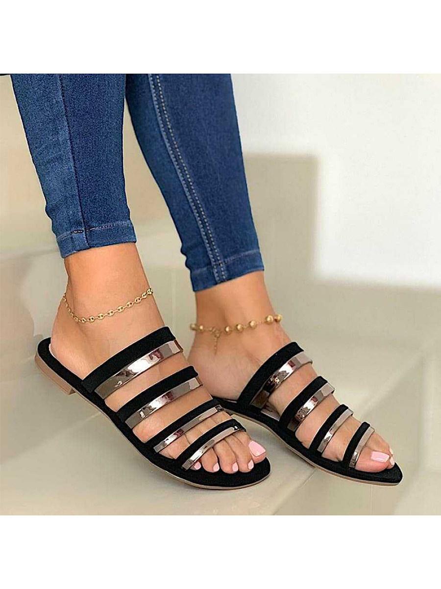 BerryLook Women's Comfortable Flat Open Toe Slippers
