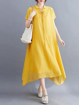 Berrylook Loose and thin lapel tie dress online shop, shop, empire waist dress, floral maxi dress