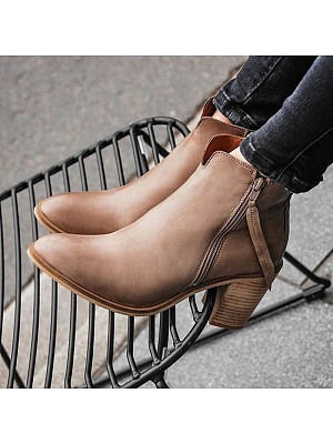 Fashion contracted ladies pure color high-heel ankle boots, 11002985