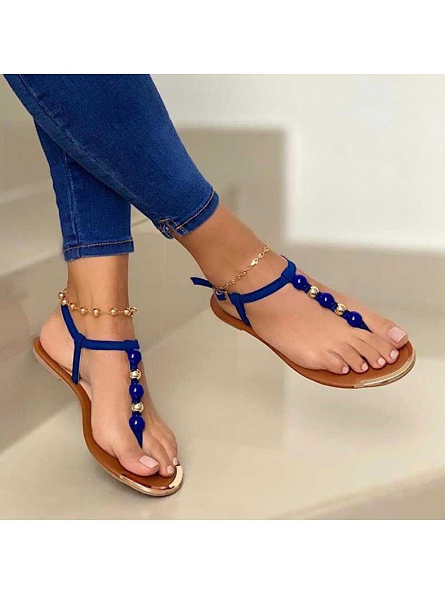 BerryLook Women's casual buckle clip toe sandals