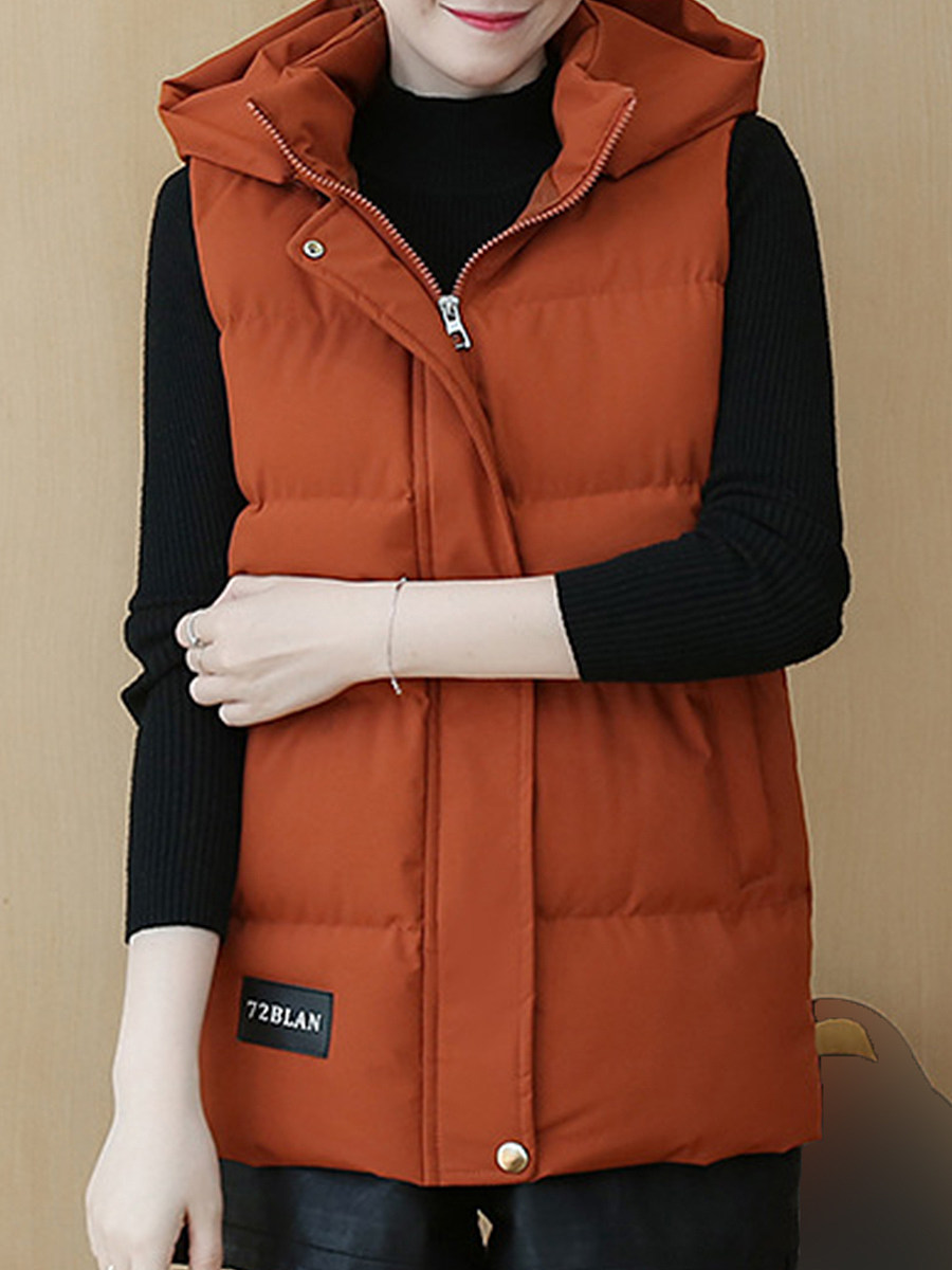 Fashion leisure solid color cotton Waistcoat - from $32.95