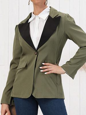 Fashion color matching suit Blazer
