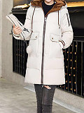 Image of Youth cotton-padded jacket women's slim down jacket mid-length