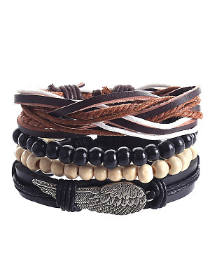 Alloy Braided Combination Set Bracelets