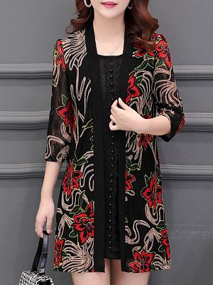 Lace Patchwork Elegant Cardigan, 11122979