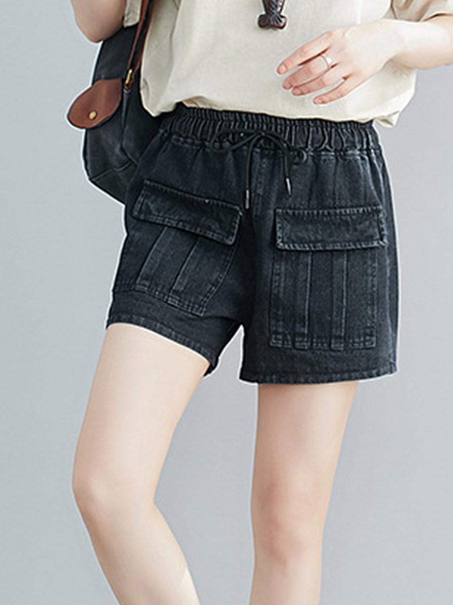 BerryLook Elasticated high waist loose slim wide leg pants