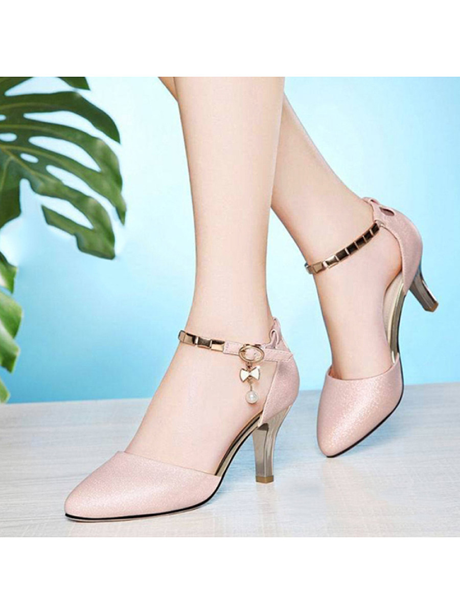 BerryLook Fashion Bow Buckle Breathable High Heels