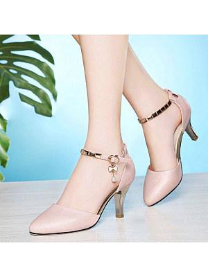 Fashion Bow Buckle Breathable High Heels фото