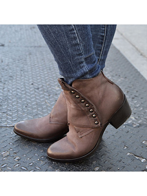 Women's Comfortable Thick Heel Boots, 25398071