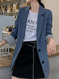 Image of All-match temperament small suit solid color long sleeve casual