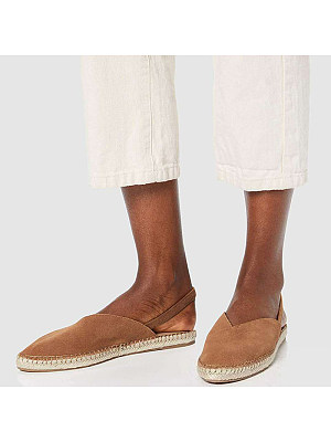 Casual ladies pointed suede flat slippers, 10680926