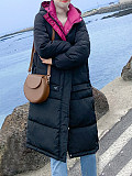Image of New style padded jacket women thick mid-length down padded jacket
