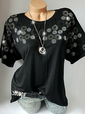 Round Neck Short Sleeve T-shirt, 11283932