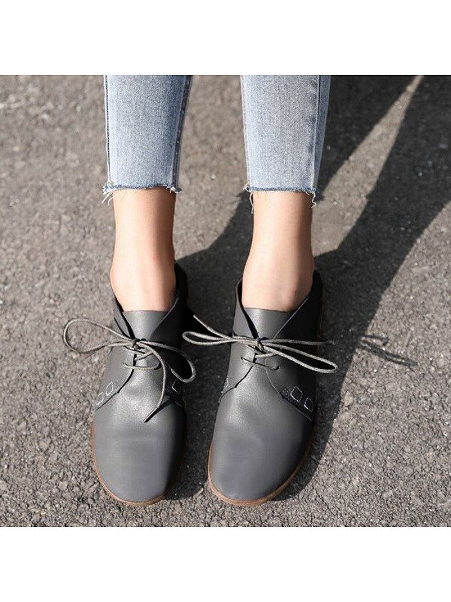 Classic women's pure color round-toed antiskid single shoes - from $24.95