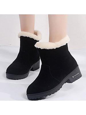 BERRYLOOK Large Size Platform Snow Boots