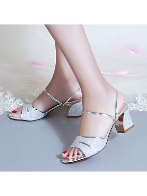 Fashion word thick heel sandals, 11411502