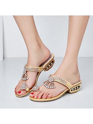 Bohemian fashion fringed rhinestone sandals