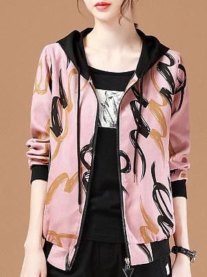 Fashion Print Hooded Jacket