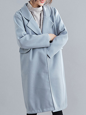 Women's Slim Fit Woolen Coat gender:female, season:autumn,winter,spring, collar:stand collar, texture:polyester, sleeve_length:long sleeve, sleeve_type:regular sleeve, style:japan and south korea, dress_occasion:daily, bust:118,clothing length:103,shoulder width:41,