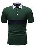 MenS Wild Casual Lapel Short Sleeve T-Shirt