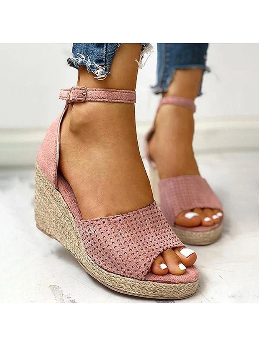 BerryLook Women's comfortable Wedge Heel Sandals