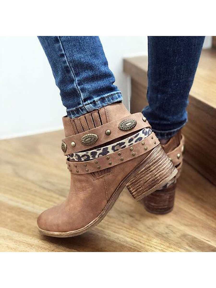 Women's vintage stud Martin boots