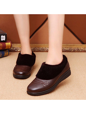 Casual flat non-slip plus velvet thick cotton shoes, 10997539