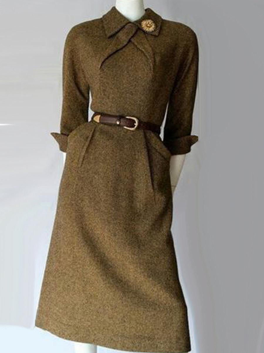 Fashion casual woolen slim-fit shirt collar coat