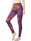 Image of Fashion starry sky pattern digital printing casual sports leggings