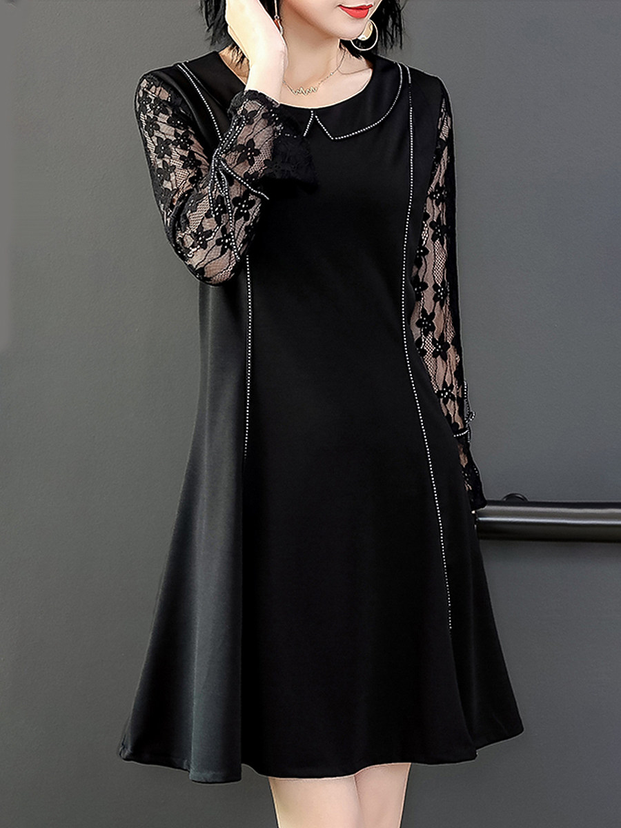 Women's elegant lace stitching dress - from $24.95