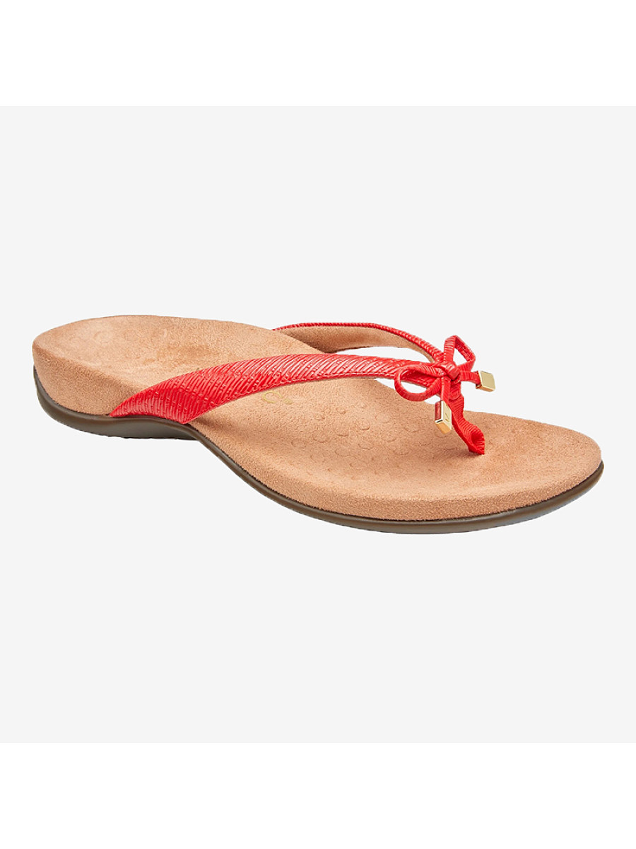 Women's bow flip flops