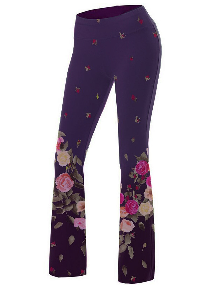 BerryLook High waist wide leg printed sweatpants yoga pants